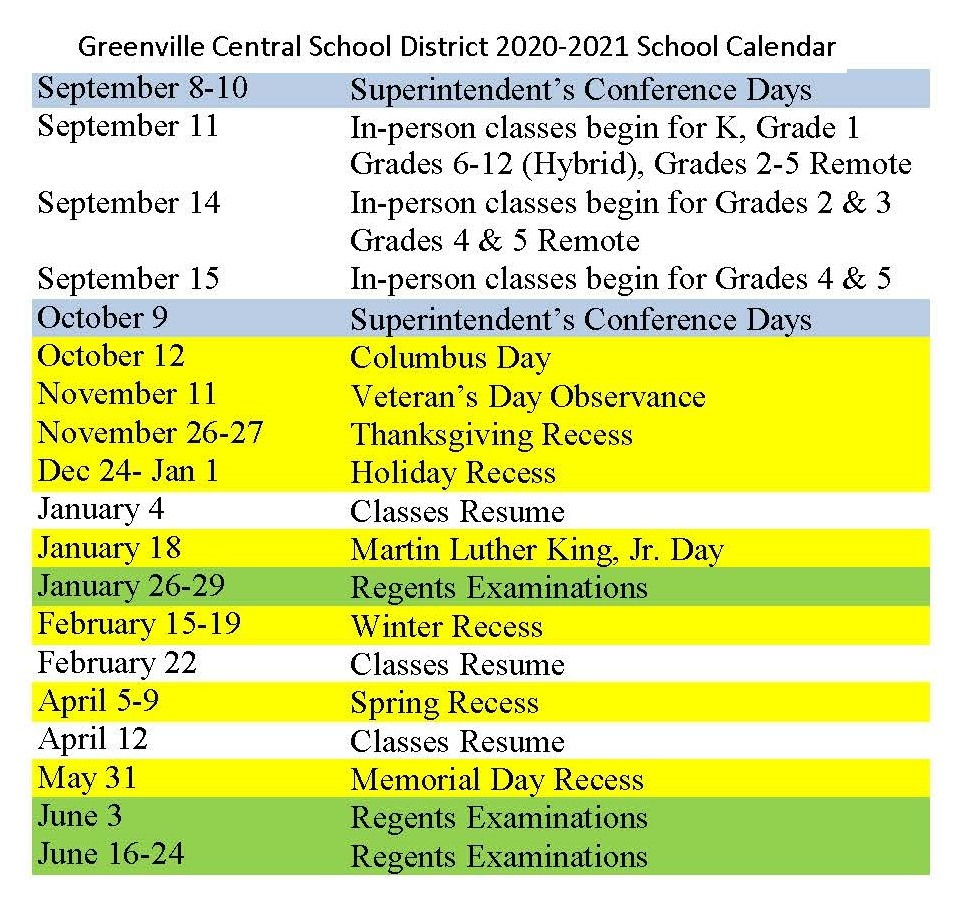20-21 School Calendar Revised