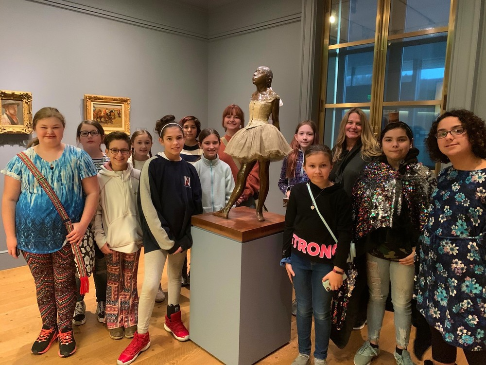 MS Students visit Clark Museum