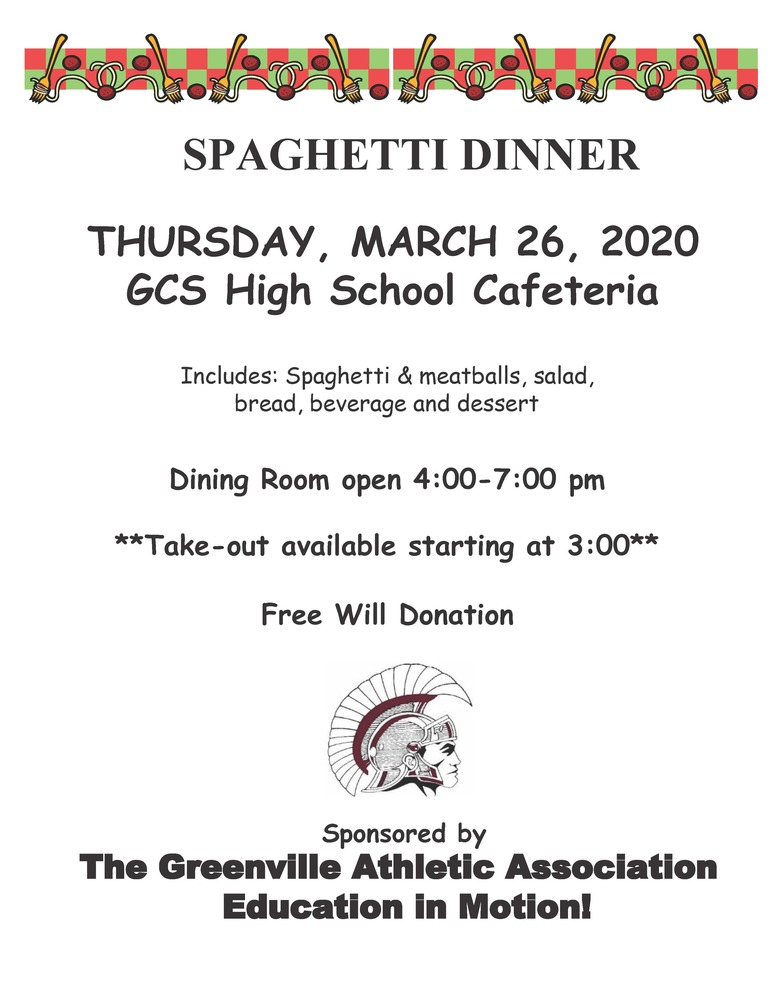 GAA Sponsored Spaghetti Dinner