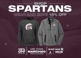 Shop Spartans Gear and Save 15% Off