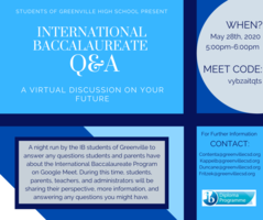 IB Information Night- May 28th, 5-6pm