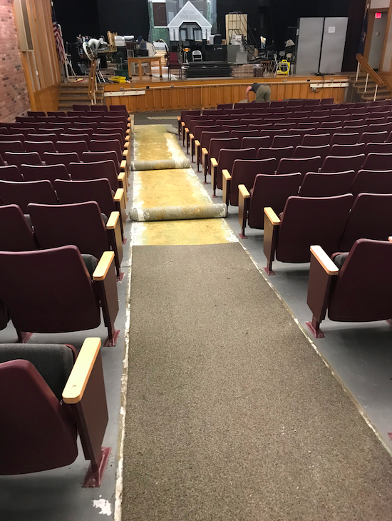 Auditorium carpeting