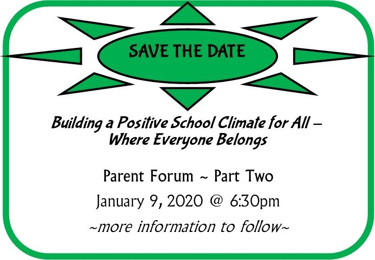 SAVE THE DATE-Parent Forum ~ Part Two