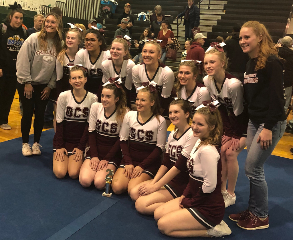 The Greenville Varsity Cheerleading Squad competed at the 4th annual Middleburgh Competition. 11 schools from section 2 attended the event.  The team placed 2nd in the small all girl division and 2nd in overall.  Congratulations!