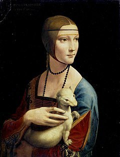 """Lady with an Ermin"" by Leonardo de Vinci, 1490"