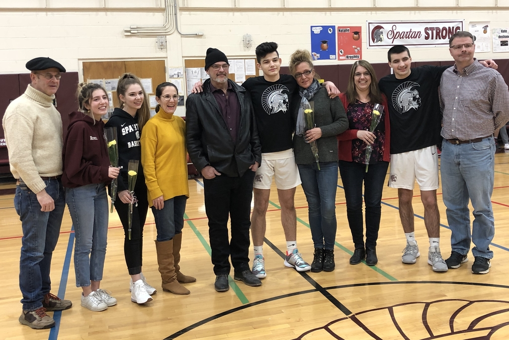 Varsity Boys' Basketball Senior Night